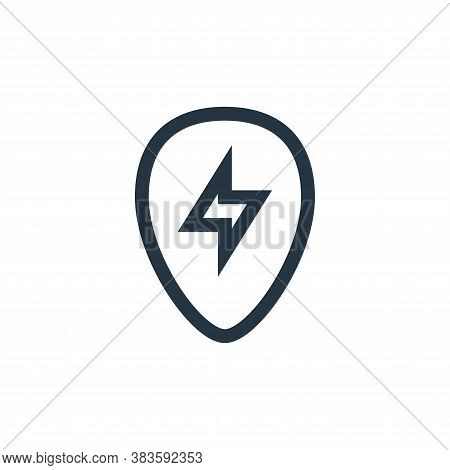 guitar pick icon isolated on white background from music festival collection. guitar pick icon trend