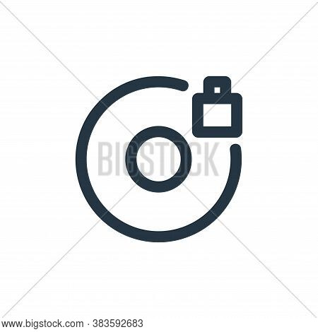 lock icon isolated on white background from disc tool line collection. lock icon trendy and modern l