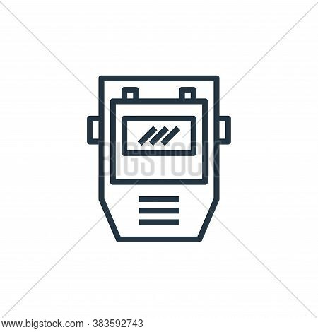 welding mask icon isolated on white background from labour day collection. welding mask icon trendy
