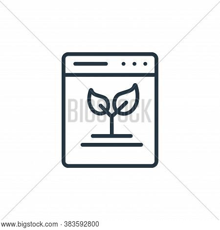 organic content icon isolated on white background from seo and website collection. organic content i