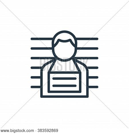 mug shot icon isolated on white background from crime collection. mug shot icon trendy and modern mu