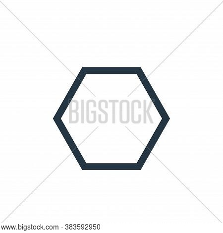 polygon icon isolated on white background from vector editing collection. polygon icon trendy and mo
