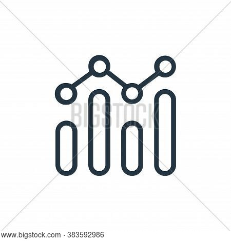 chart icon isolated on white background from seo collection. chart icon trendy and modern chart symb
