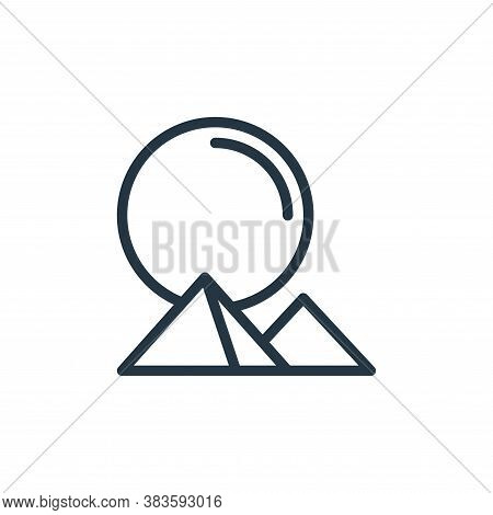 landscape icon isolated on white background from travel collection. landscape icon trendy and modern