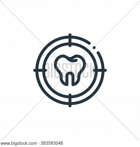target icon isolated on white background from dentist collection. target icon trendy and modern targ