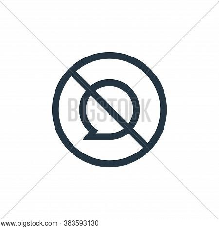 no speak icon isolated on white background from message collection. no speak icon trendy and modern