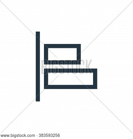 left align icon isolated on white background from vector editing collection. left align icon trendy
