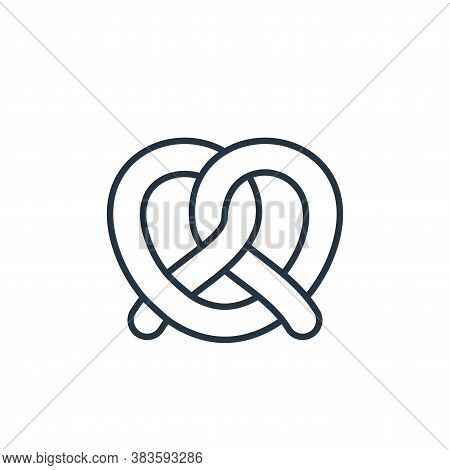 pretzel icon isolated on white background from bakery collection. pretzel icon trendy and modern pre
