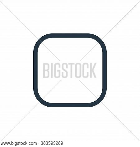 rounded rectangle icon isolated on white background from vector editing collection. rounded rectangl