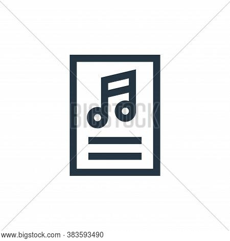 sheet music icon isolated on white background from education collection. sheet music icon trendy and