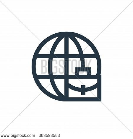 international business icon isolated on white background from economy collection. international busi