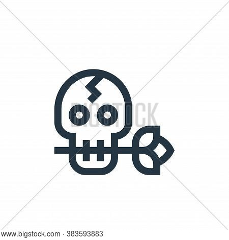 skull icon isolated on white background from music festival collection. skull icon trendy and modern