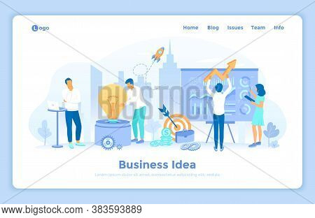 Idea Business Concept, Project Startup, Financial Planning, Strategy, Realization And Success. A Tea