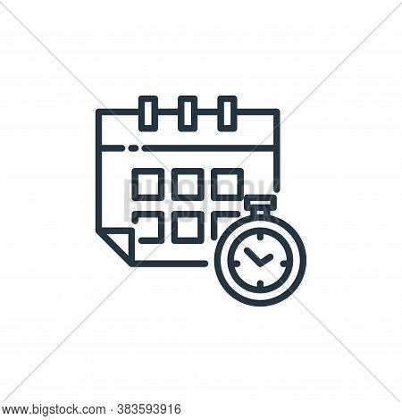 on time icon isolated on white background from shipping logistics collection. on time icon trendy an