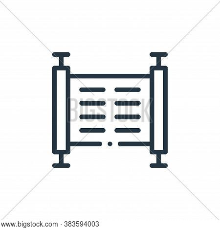 manuscript icon isolated on white background from books collection. manuscript icon trendy and moder