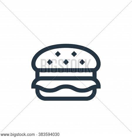 hamburger icon isolated on white background from music festival collection. hamburger icon trendy an