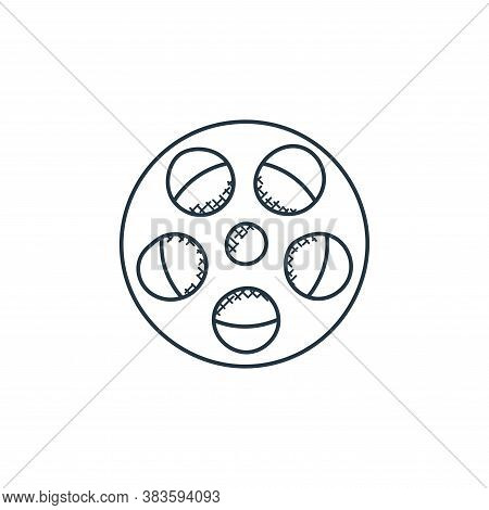 film reel icon isolated on white background from music collection. film reel icon trendy and modern