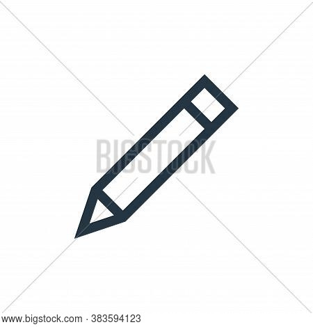 pencil icon isolated on white background from vector editing collection. pencil icon trendy and mode
