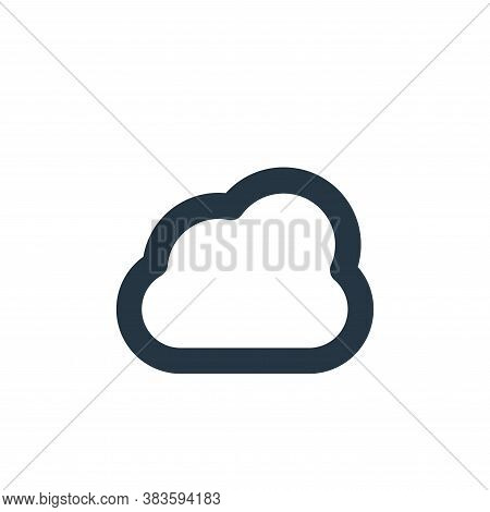 cloud icon isolated on white background from weather collection. cloud icon trendy and modern cloud