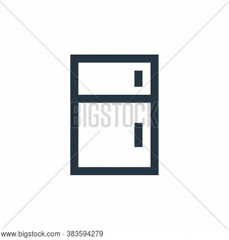 refrigerator icon isolated on white background from electronic collection. refrigerator icon trendy