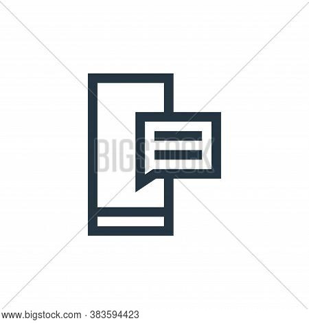 text message icon isolated on white background from message collection. text message icon trendy and