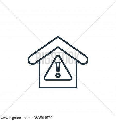 warning icon isolated on white background from smarthome collection. warning icon trendy and modern