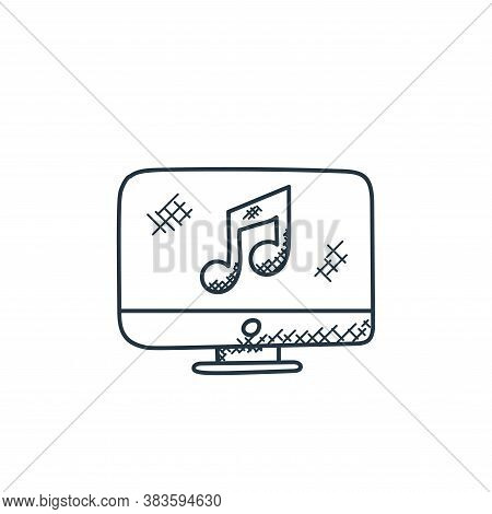 music player icon isolated on white background from music collection. music player icon trendy and m