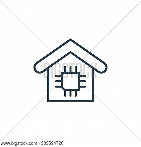 cpu icon isolated on white background from smarthome collection. cpu icon trendy and modern cpu symb