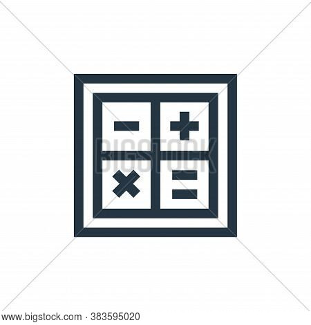 maths icon isolated on white background from economy collection. maths icon trendy and modern maths