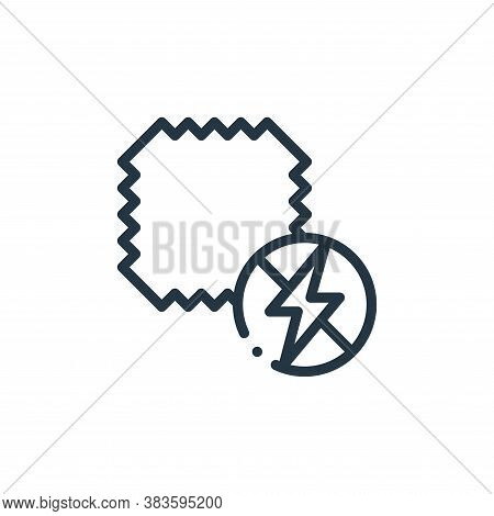 antistatic fabric icon isolated on white background from fabric features collection. antistatic fabr