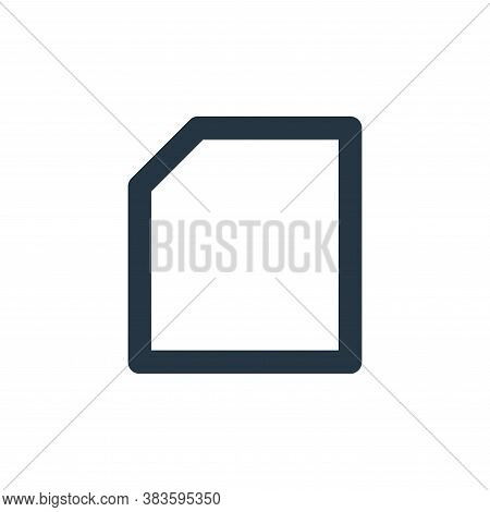 file icon isolated on white background from basic ui collection. file icon trendy and modern file sy