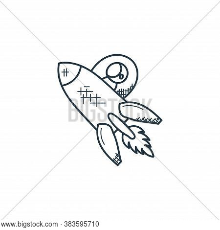 rocket icon isolated on white background from space and aircraft collection. rocket icon trendy and