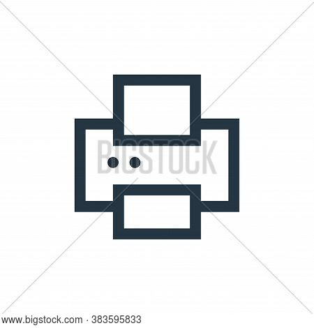 printer icon isolated on white background from electronic collection. printer icon trendy and modern