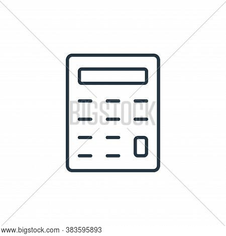 calculator icon isolated on white background from finance collection. calculator icon trendy and mod