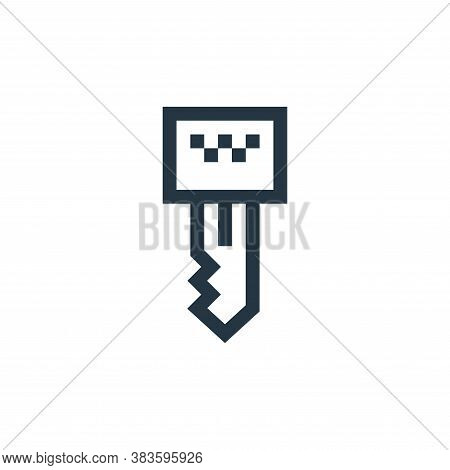key icon isolated on white background from taxi service collection. key icon trendy and modern key s