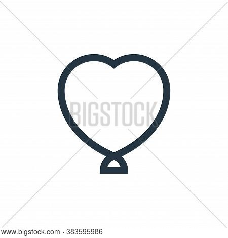 heart shaped icon isolated on white background from baby shower collection. heart shaped icon trendy