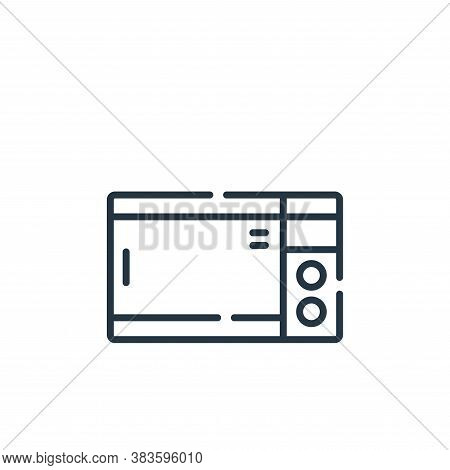 microwave oven icon isolated on white background from fast food collection. microwave oven icon tren