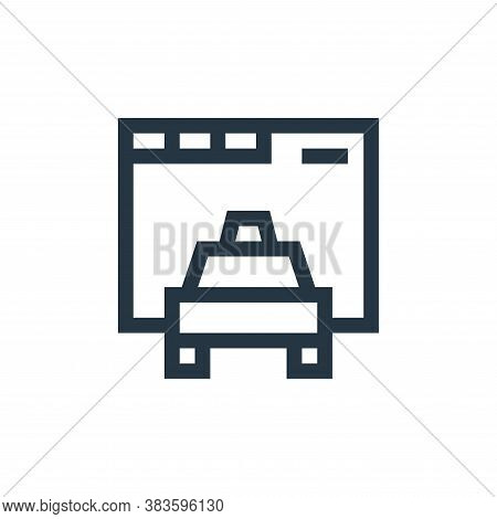 cab icon isolated on white background from taxi service collection. cab icon trendy and modern cab s