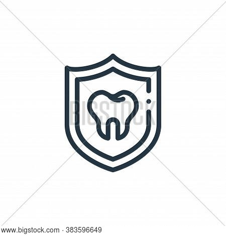 prevention icon isolated on white background from dentist collection. prevention icon trendy and mod