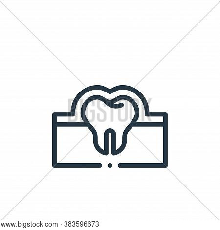 enamel icon isolated on white background from dentist collection. enamel icon trendy and modern enam