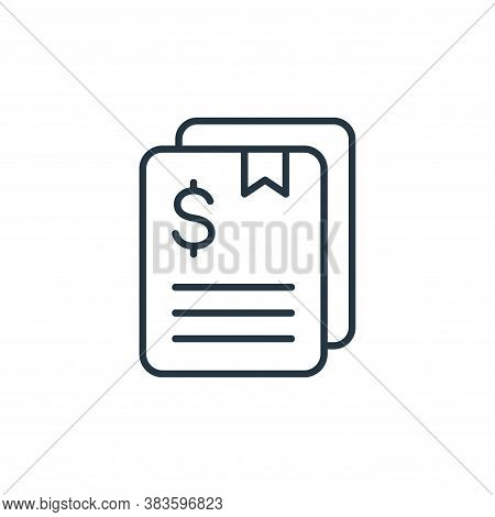 contract icon isolated on white background from finance collection. contract icon trendy and modern
