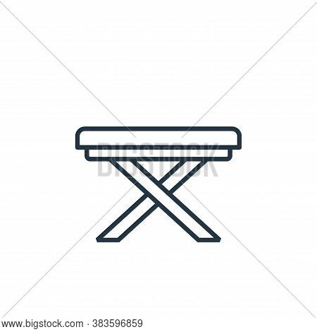 folding table icon isolated on white background from furniture collection. folding table icon trendy