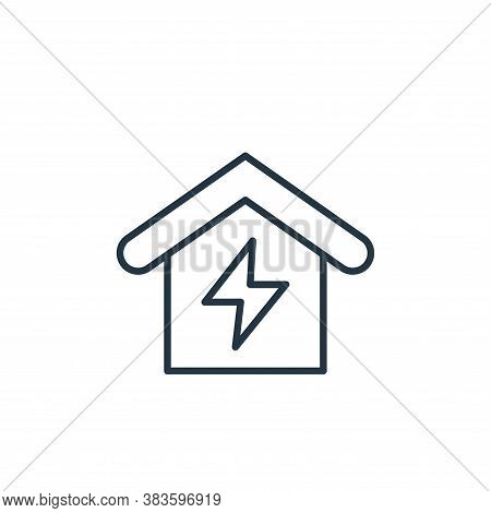 electricity icon isolated on white background from smarthome collection. electricity icon trendy and