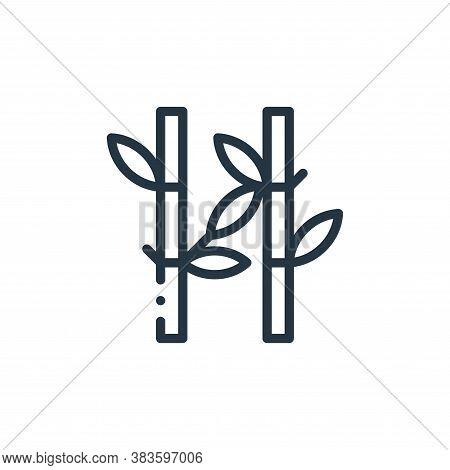 bamboo icon isolated on white background from fabric features collection. bamboo icon trendy and mod