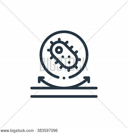 bacteria icon isolated on white background from fabric features collection. bacteria icon trendy and