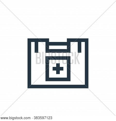 first aid kit icon isolated on white background from music festival collection. first aid kit icon t