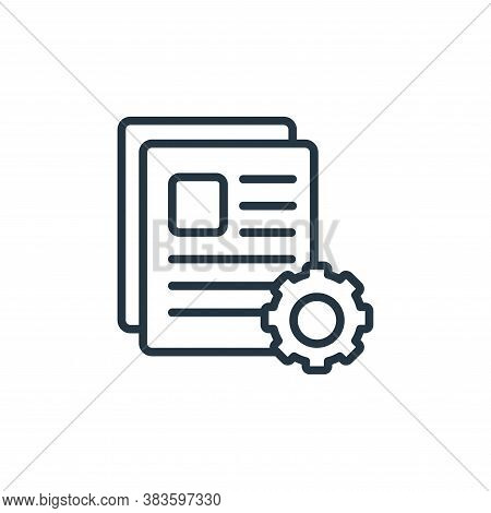 files icon isolated on white background from seo and website collection. files icon trendy and moder