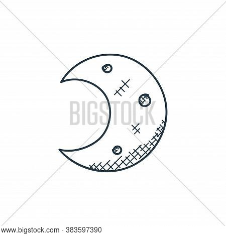 night icon isolated on white background from space and aircraft collection. night icon trendy and mo