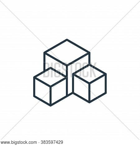 boxes icon isolated on white background from e commerce collection. boxes icon trendy and modern box