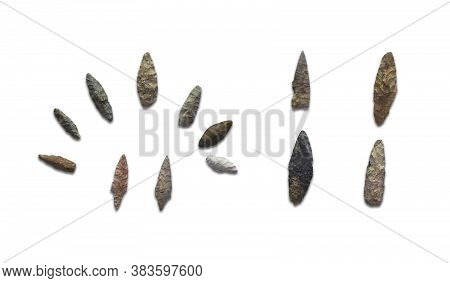 Arrowheads Of Primitive Hunters - Stone Arrowheads.